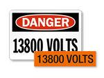 13800 volts labels