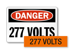 277 volts labels