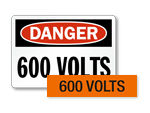 600 volts labels