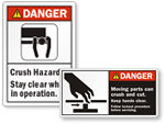 Crush & Cut Hazard