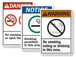 ANSI No Smoking Signs