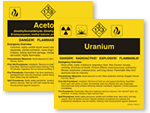 ANSI Chemical Labels