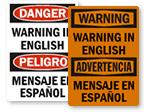 Custom Bilingual Signs