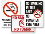 Bilingual No Smoking Signs