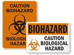 Biological Hazard Stickers