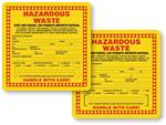 California Hazardous Waste Labels