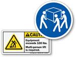 Caution Heavy Labels