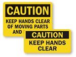 Caution Pinch Point Labels