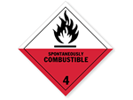 Class 4 Spontaneously Combustible Labels