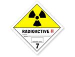 Class 7 Radioactive II Hazmat Dot Labels