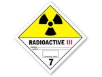 Class 7 : Radioactive III Hazmat Labels