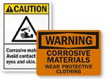 Corrosive Materials Signs
