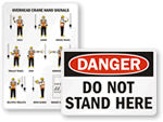 Certified Crane Operator Signs