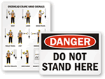 Certified Crane Operator Signs