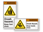 Crush Hazard Labels