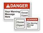 Custom ANSI Danger Labels