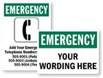 Custom Emergency Signs