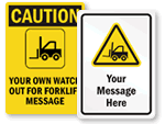 Custom Forklift Signs