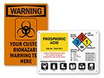 Custom Health Hazard Signs