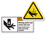 Cut Hazard Labels