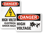 High Voltage Danger Labels