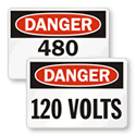 Danger Volt Labels