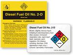 Diesel Fuel Oil Labels