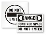 Do Not Enter Stencils