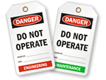Do Not Operate Tags – by Department