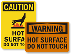 Hot Surface Warning Signs