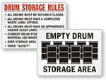 Drum Storage Labels