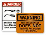 Electric Service Labels