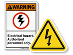 Electrical Utility Warning Signs and Labels