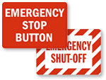Emergency Stop Switch Label