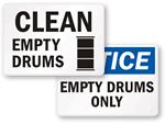 Empty Drum Labels