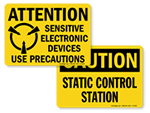 Static Warning Labels