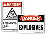 Explosive Material Labels