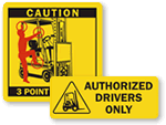 Forklift Labels
