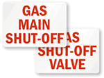 Gas Shut-off Label