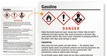 Gasoline Labels