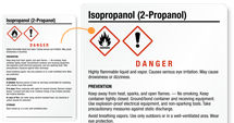 Isopropanol Labels