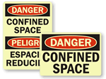 GlowSmart Confined Space Signs & Labels
