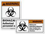 Biohazard Warning Labels