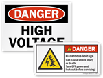High Voltage Labels