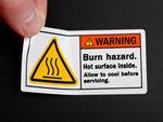 Hot Warning Labels