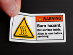 Hot Warning Labels