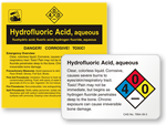 Hydrofluoric Acid Labels