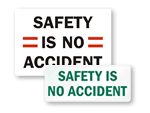 Safety is No Accident Labels