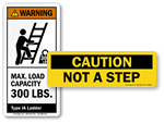Ladder Safety Labels