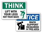 Lifting Instruction Signs